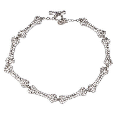 Vivienne Westwood 8-Section Diamond Bone Necklace With Packing