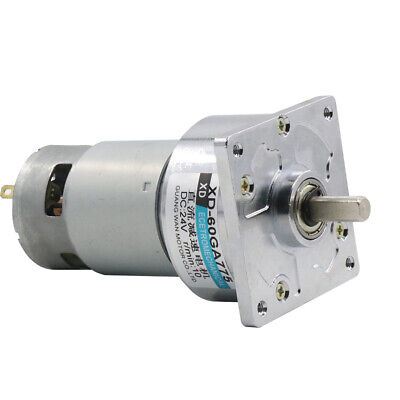 60ga775 12v24v 35w Dc Gear Motor Adjustable Speed With Square Flange Gearbox