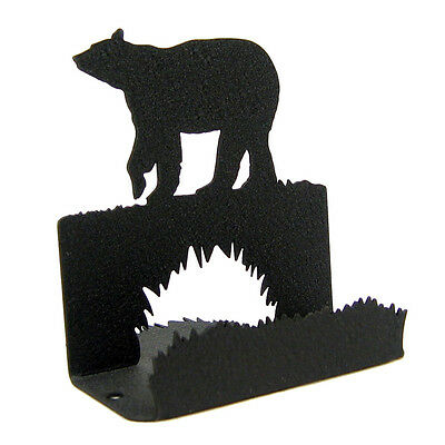 Bear Black Metal Business Card Holder