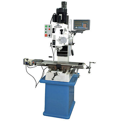 Pm-932m-pdf 9x32 Vertical Milling Machine Power Down Feed On Spindle 3axis Dro