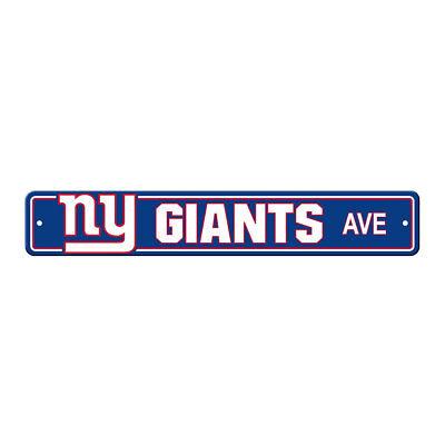 NFL New York Giants Home Room Bar Office Decor AVE Street Sign 4
