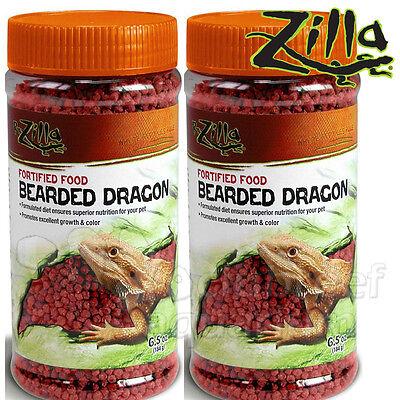 Bearded Dragon Terrarium ((2) Zilla Fortified Bearded Dragon Food 6.5oz Lizard Reptile Terrarium)