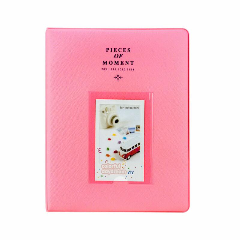 Photo Album For Fuji Instax Mini Prints Holds 128 Photos Flamingo Pink New!