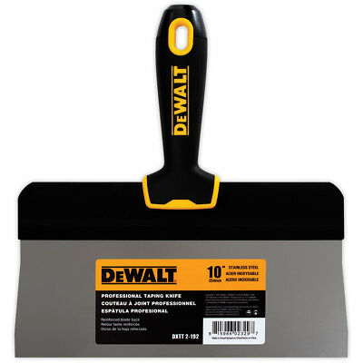 Dewalt Taping Knife 10 Stainless Steel Big Back Drywall Taping Tool