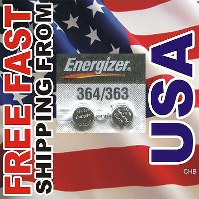 2 NEW ENERGIZER 364 363 SR621W SR621SW watch battery