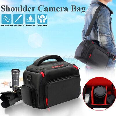 DSLR / SLR Digital Camera Case Shoulder Bag Handbag & Rain Cover For   %*