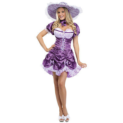 Sexy Southern Belle Purple Adult Costume | Fun World 123114](Adult Southern Belle Costume)