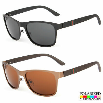 New Polarized Classic Vintage Sunglasses Mens Womens Metal Full Frame - Full Metal Frame Sunglasses