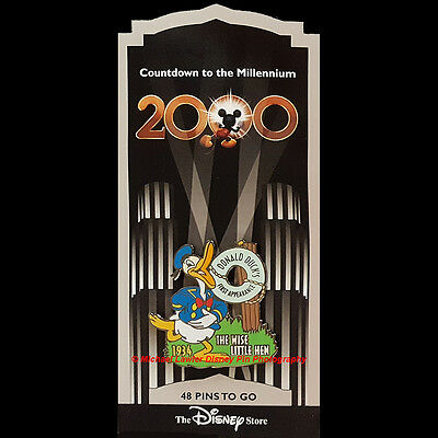DISNEY STORE COUNTDOWN TO THE MILLENNIUM #49 DONALD DUCK FIRST APPEARANCE PIN