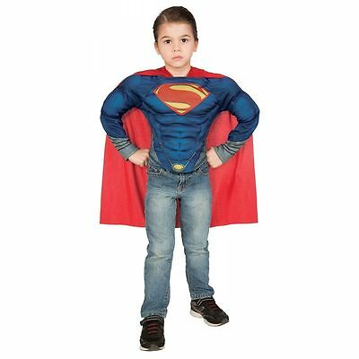 SUPERMAN MAN OF STEEL COSTUME! MUSCLE SHIRT IMAGINE BY RUBIES NEW [SIZES 8-10]