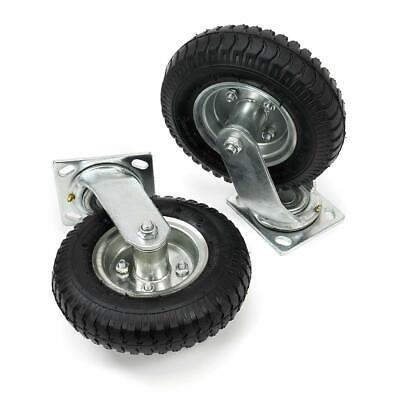 4pcs 810 Pneumatic Air Tire Wheel 2 Rigid 2 Swivel Hd Farm Cart Caster Large