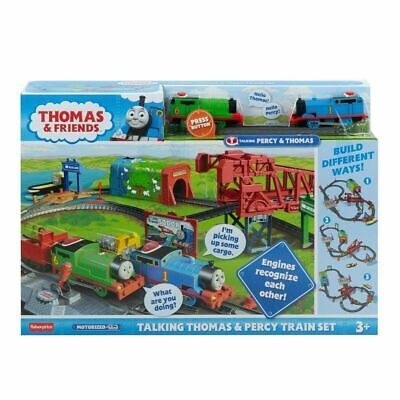 Fisher-Price Thomas & Friends Talking Thomas & Percy Train Set For Kids Xmas LF