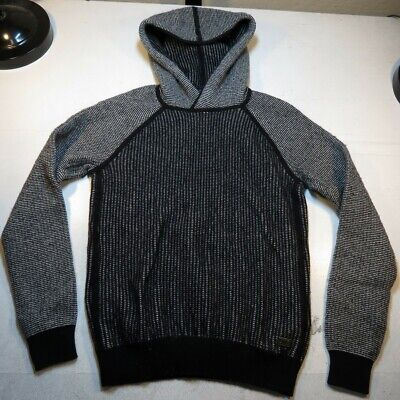 A/X ARMANI EXCHANGE KNIT WOOL PULLOVER HOODIE HOODED SWEATER Sz Mens S (Armani Exchange Sweater Men)