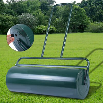 Tow Lawn Roller Water Filled Poly Push Roller 36-Inch x 12-Inch Green