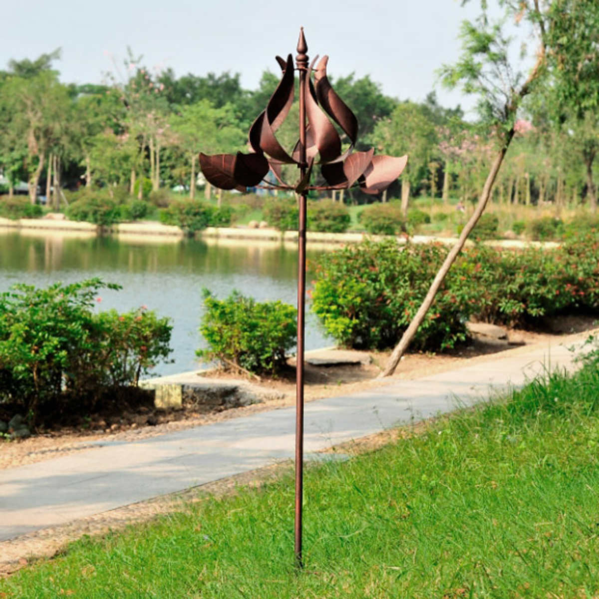 metal wind spinner - wind spinner metal tulip catcher outdoor