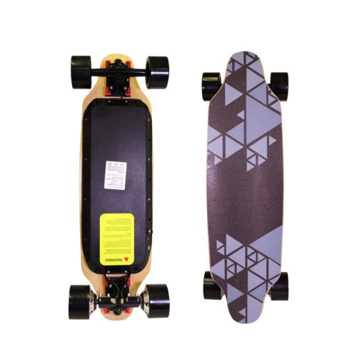 "Upgraded 32"" Electric Skateboard Longboard Dual Motor Hand"