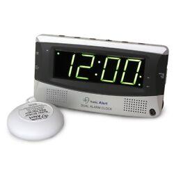 Sonic Alert SA-SBD375SS Dual Alarm Clock w/Super Bed Shaker, extra loud alarm