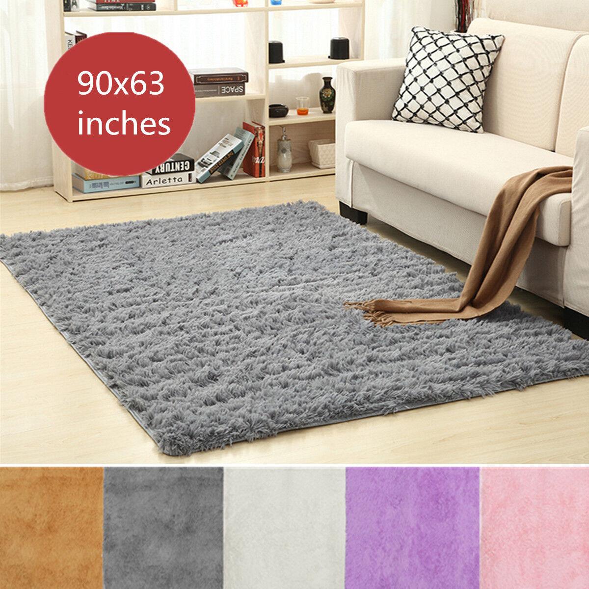 Floor Rugs Anti-Skid Shaggy Area Rug Dining Living Room Home