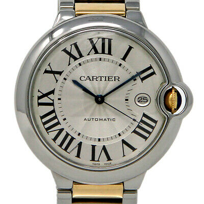 Cartier Ballon Bleu 42mm W69009Z3 Stainless Steel Gold Box/Paper/Warranty #685-1