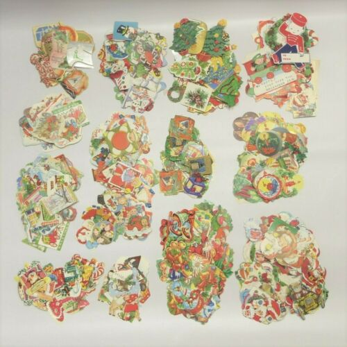 Vtg Holiday Gummed Seals Stickers Huge Lot of 950 All Christmas 1920s-1960s
