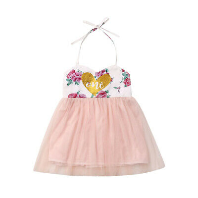 Baby 1st Birthday Floral Outfit Dress Heart Tutus For Girls Cake Smash Dresses - First Birthday Cakes For Girls