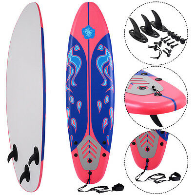 Kyпить Goplus 6' Surfboard Surf Foamie Boards Surfing Beach Ocean Body Boarding Red на еВаy.соm