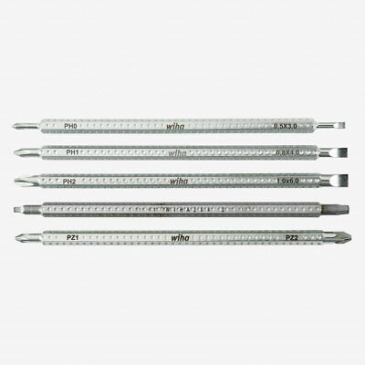 Wiha 28483 Slotted Phillips Square PoziDriv Drive-Loc 5 Blade Set Slotted Square Blade