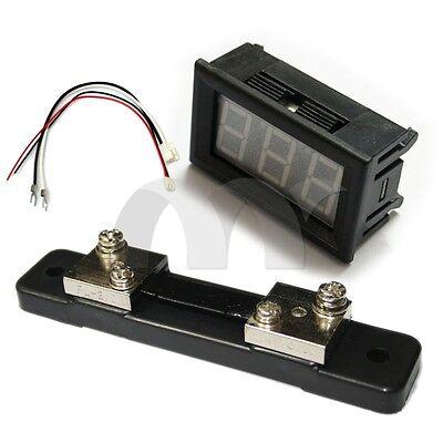 0.56 Blue Led Digital Dc Ammeter Amp Mini Current Panel Meter Dc 0 - 50a