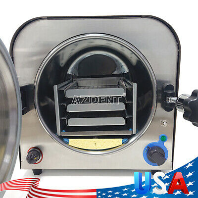 Us Dental Lab Medical 14l Autoclave Sterilizer Vacuum Steam Sterilization 304