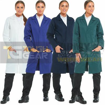 Damen Laborkittel Labor Warehouse Overall Artzt Studenten Arbeitskleidung Herren