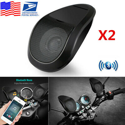12V Motorcycle Bluetooth Speaker Stereo Audio FM Radio MP3 Player with LED Light