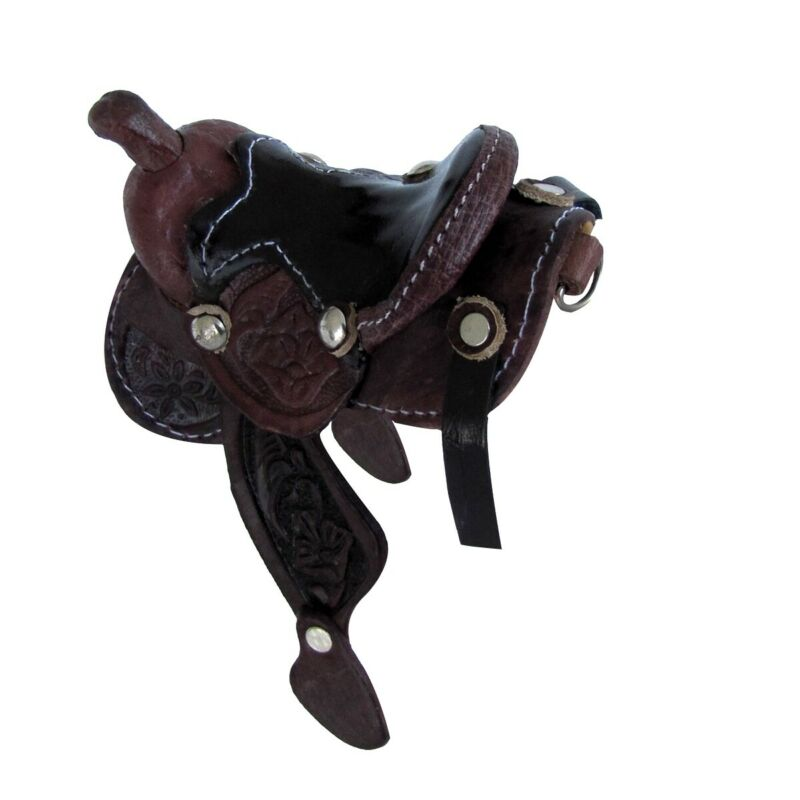Authentic Real Leather Western Saddle Keychain New Key Chain Cowboy Ring Keyring