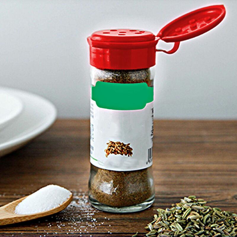 USA 10Pcs Plastic Salt Pepper Seasoning Jars Condiment Bottles Cruet Container