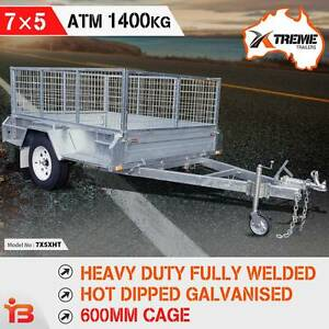 Extreme 7x5 Heavy Duty Welded Galvanised Box Trailer 600mm Cage Fairfield Fairfield Area Preview