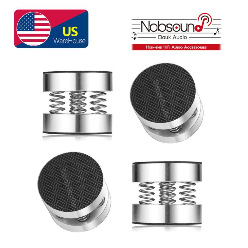 4PCS Aluminum Spring Speaker Spikes+Pads Mats DAC Amplifier Isolation Stand Feet