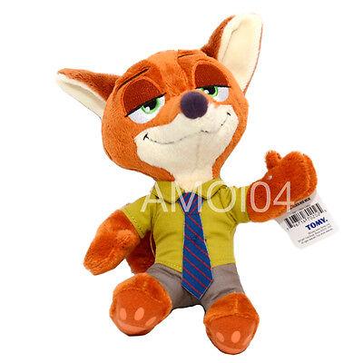 """Zootopia Nick Wilde Fox Soft Plush Toy 10"""" inch New"""