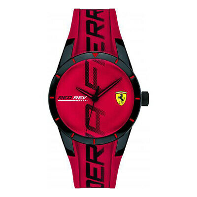 Ferrari RedRev Mens Analog Casual Multicolored Band 0840028