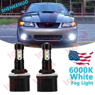 For 1999-2004 Ford Mustang GT SVT Cobra - 880 LED Fog Light Bulbs Driving Lamps