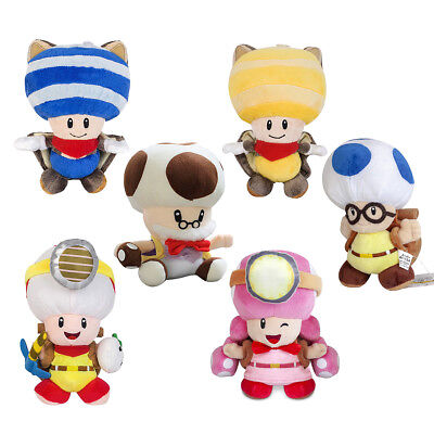 Super Mario Plush Doll Captain Toad & Flying Squirrel Blue/Yellow Toad Toys Gift](Toad Super Mario)