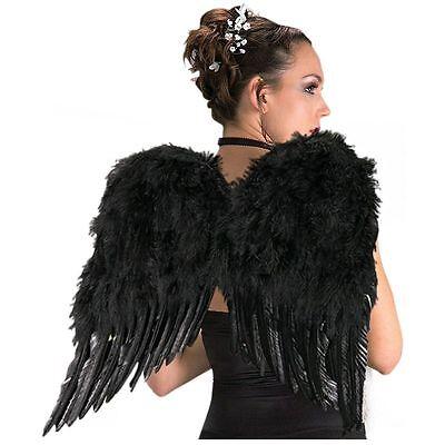Rubies Deluxe Schwarze Feder Flügel Engel Göttin Damen Halloween Kostüm - Engel Göttin Kostüm