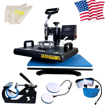 15x12 5in1 Heat Press Machine Sublimation Digital Transfer T-shirt Mug Cap Hat