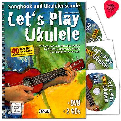 Let's Play Ukulele - Songbook und Ukulelenschule - HAGE - EH3857 - 9783866263062