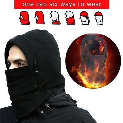 aa0e095952e Men Women Winter Fleece Balaclava Hat Trooper Snow Ski Neck Face Mask Hood  Cap