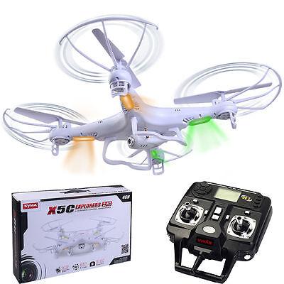 Syma X5C Explorers 2.4G 4CH 6-Axis Gyro RC Quadcopter with HD Camera RTF New @