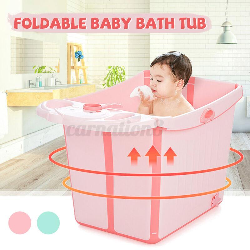 Foldable Multifunction Baby Infant Large Bath Laundry Tub Anti-slip Shower Box