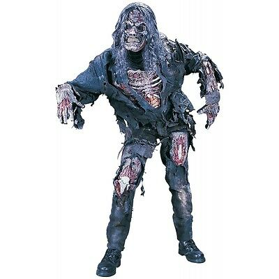 Zombie Costume Adult Mens Scary Halloween Fancy Dress (Scary Mens Costumes)