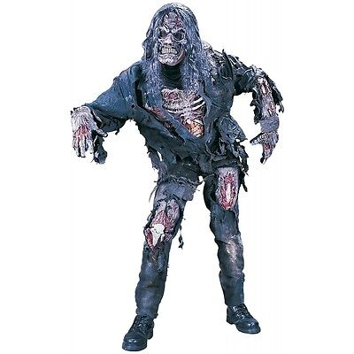 Complete Zombie Costume Adult Scary Skeleton Monster Halloween Fancy Dress
