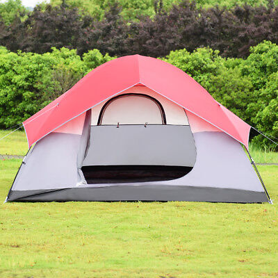 Portable 6 Person Automatic Pop Up Family Tent Easy Set-up Camping Hiking W/ Bag