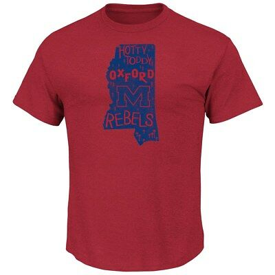 Mississippi Ole Miss Rebels Majestic NCAA Far Beyond Short Sleeve Men's (Mississippi Rebels Ncaa Tee)