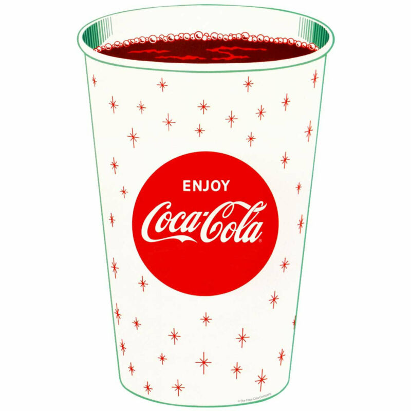 Enjoy Coca-Cola Cup Decal Peel & Stick Wall Graphic